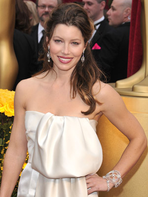 Jessica Biel en Louis Vuitton